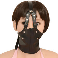 muzzle head harness suffocated mask ball gag BDSM kinky sex porn play 1214