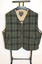 Men's  Woolrich Fleece Lined Wool Hunting Vest Plaid SZ XL