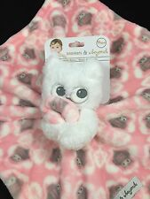 Blankets & Beyond Nunu Lovey Plush Security Blanket Pink Owl