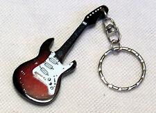 Schlüsselanhänger Gitarre rot Schlüsselring Bassgitarre E-Gitarre Key chain