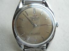 STUNNING RAREST VINTAGE 1962 WALTHAM ALL SS, DYNAFLOW 41 JEWELS, AUTOMATIC,RUNS