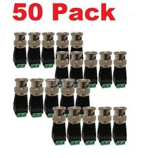 50pcs CAT5 Cat6 UTP to Coaxial BNC Video Balun Connector Adapter for CCTV Camera