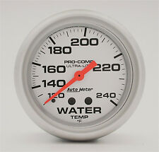 "AUTO METER ULTRA LITE 2 5/8"" MECHANICAL WATER TEMPERATURE GAUGE 120-240 DEG F"