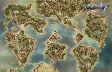 Dragon Quest V Map  - High Quality Huge Poster 32 in  x 22 in - Fast Shipping