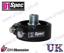 D1 SPEC OIL FILTER SANDWICH PLATE ADAPTER BLACK 3/4UNF-16 JDM DRIFT by nitroXuk