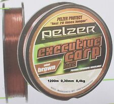 1200m Executive PELZER CARP LINE Brown 0,35mm 12,5kg di filo monofili motivo a pesca