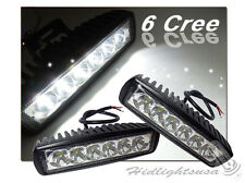"6"" Inches Cree LED Universal Fit Fog Driving Light Bar Bike Jeep Truck GP Xtreme"