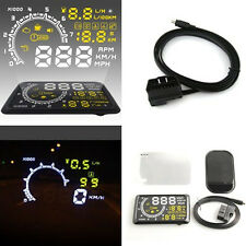 "Car Safety OBD II HUD Head Up Display 5.5"" Warm Speed System Fuel Consumption"