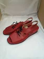 Ladies Hush Puppies Lace Up Sandals in Red Size EU43/UK9 - Shock Absorber Heel