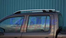 VW AMAROK BRUSHED ALUMINIUM ROOF RAILS BARS - SILVER FINISH
