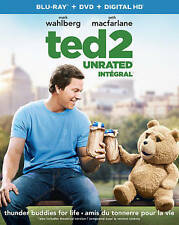 Ted 2 (Blu-ray/DVD, 2015, 2-Disc Set, Slipcover)