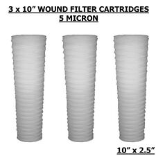 "10"" BIO-DIESEL VEGETABLE OIL WOUND PARTICLE FILTERS X 3"