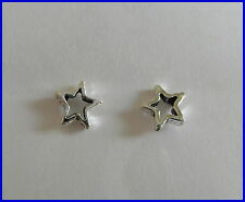 Pair Of Sterling Silver  925  Star  Ear Studs  !!     Brand  New  !!