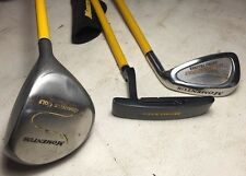 3 Set of Momentus Golf Clubs- Wood, Iron, Putter Training Clubs