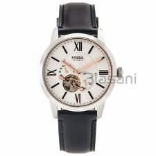 Fossil Original ME3104 Men's Townsman Automatic Black Leather Watch 44mm