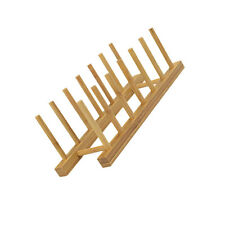 6 Grids Kitchen Bamboo Holder Dish Storage Tray Rack Drainer Plate Stand