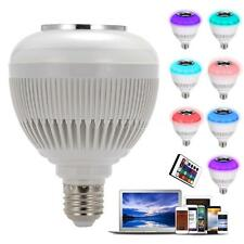 Color RGBW LED Music Bluetooth Control Audio Speaker Light Lamp Bulb 12W E27