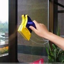 Magnetic Window Double Side Glass Wiper Cleaner Cleaning Brush Pad Scraper F7