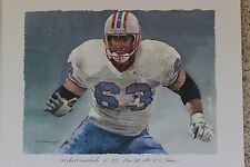 Mike Munchak Houston Oilers Titans Merv Corning NFL Pro Bowl Set AFC HOF Litho