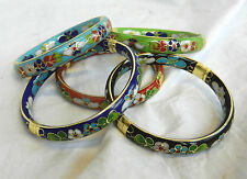 Pretty Cloisonne Enamel Hinged Bangle / Bracelet - BNIB - Assorted Colours