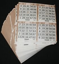 BINGO PAPER Cards 4 on 1 Brown 400 sheets FREE PRIORTY SHIPPING US noduplicates