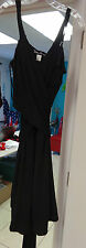 SUSAN LUCCI Dress Over Shoulder Sashes Size Plus 1X Black DRY CLEAN ONLY NEW LH