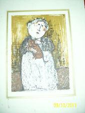 G. RODO BOULANGER - Original Lithographed Cat woman rare print nice