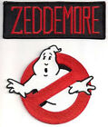 "Ghostbusters/Zeddemore No Ghosts Logo Screen Accurate 4"" Patch Set of 2(GBPA-ZED"