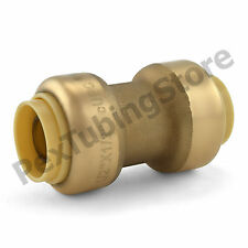 """1/2"""" Sharkbite Style (Push-Fit) Push to Connect Lead-Free Brass Coupling Fitting"""