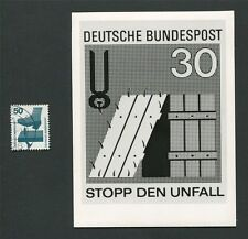 BUND FOTO-ESSAY 700 DAUERSERIE UNFALL 1971 PHOTO-ESSAY PROOF RARE!! e19