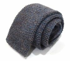 "Vintage Brooks Brothers ""Brooksgate"" Gray Fleck Tone Wool Knit Square Tip Tie"