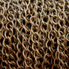 2 Metres Silver Plated, Bronze Gold Fine Metal Curb Jewellery Chain NICKEL FREE