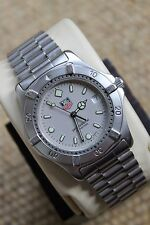 Tag Heuer 2000 Professional Watch Mens Gray WE1111 Mint Crystal WK1112 Worn 10X