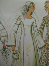 Vintage Simplicity BELL SLEEVE BRIDAL WEDDING GOWN DRESS Sewing Pattern 9935