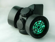 Cyber Goth Steampunk Light Up Gas Mask GREEN LED Festival Rave Burning Man GDF