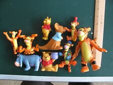 Lot of Winnie the Pooh Tigger Action Figure Toy Lot PVC Plastic Eeyore