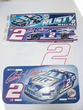 RUSTY WALLACE WinCraft  2- BUMPER STICKERS - LICENSE PLATE- 2- #2 NUMBER DECALS