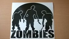 zombies car vinyl graphics zombie stickers attack killer fear outbreak wall art