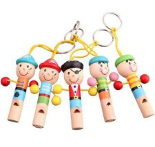 1pcs Infant Toddler Pirate Baby Whistle Sound Birthday Gift Colorful Wooden Toys