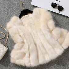 JV Women Winter Faux Fur Coats Creamy White Brand NEW