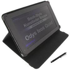Tasche für Odys Ieos Quad Book Style Tablet Schutz Hülle Ständer Schwarz + Stift
