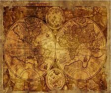OLD WORLD MAP WEATHERED COMPUTER  MOUSE PAD  9 x 7