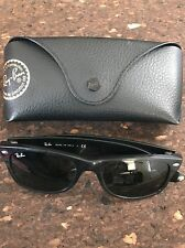 RAY-BAN New Wayfarer Sunglasses RB2132 - Black/Green Lenses are Scratched