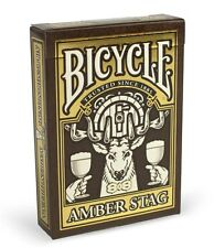 CARTE DA GIOCO BICYCLE AMBER STAG club 808,poker size