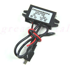 Mini USB Car Power Adapter DC 12V to 5V 3A 15W Waterproof DC Converter