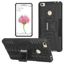 AMZER Rugged Dual Layer Hybrid Warrior Case With Stand For Xiaomi Mi Max - Black