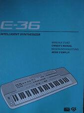 Roland Keyboard e-36 istruzioni e MIDI implementation USATO