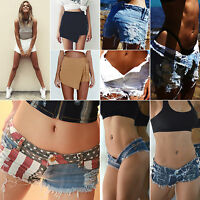 Vintage Women's High Waisted Jeans Hotpants Casual Ripped Denim Shorts Hot Pants