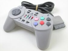 FIGHTING COMMANDER 10B Gray HPS-09 PS Controller Tested Playstation Japan 2215