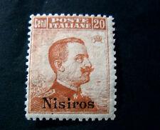 "ITALIA ,ITALY EGEO NISIRO 1912 ""Fr.d'Italia SVR"" 20c arancio no filigr.ss.9"